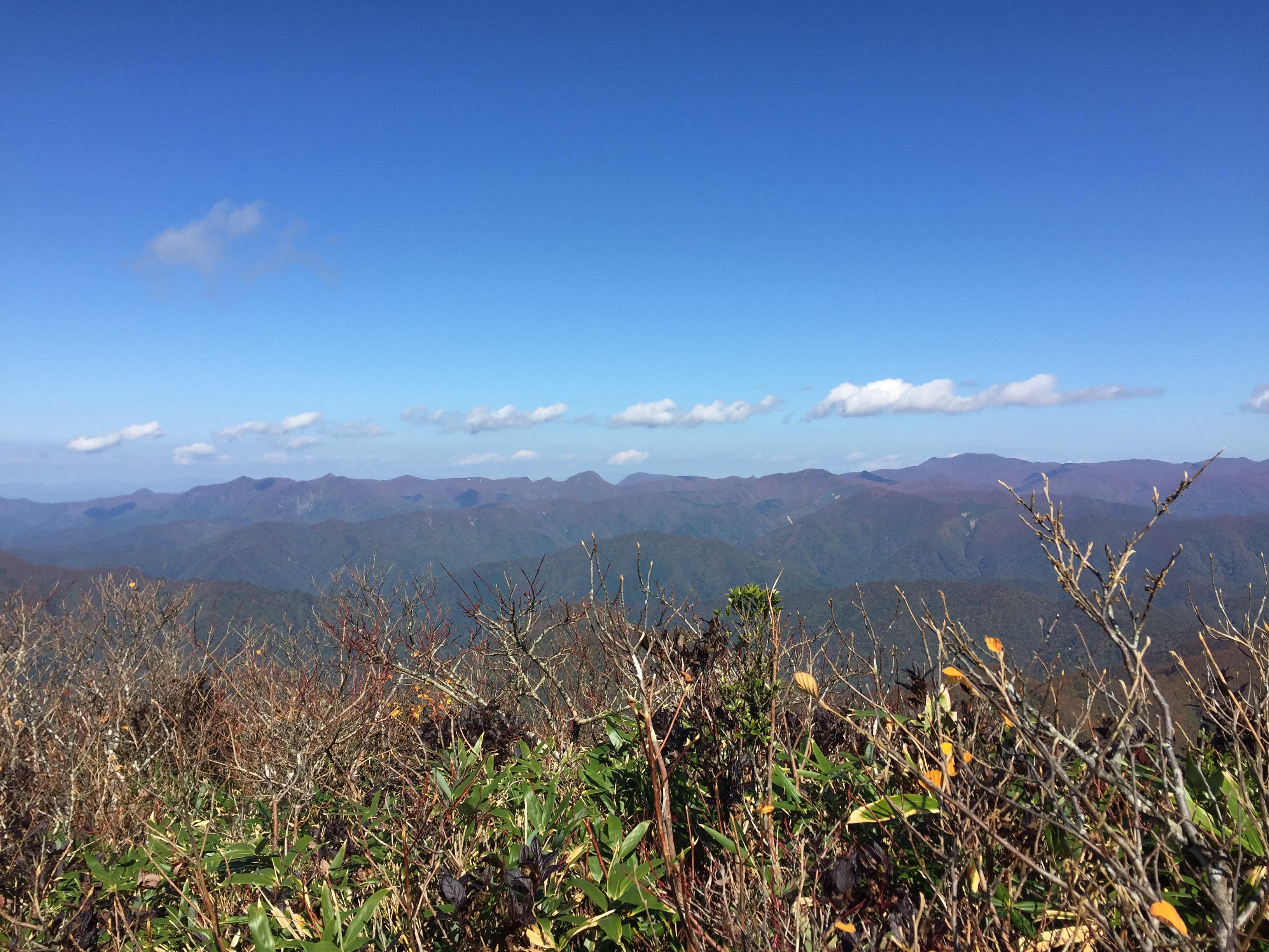 山形百名山 北面白山 稜線