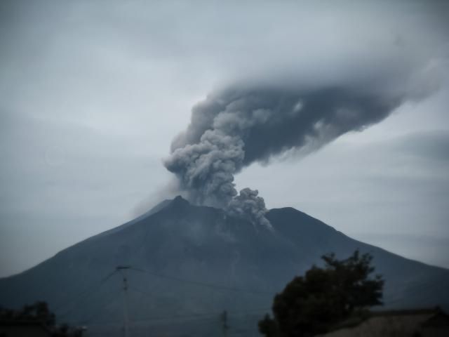 火山 噴火 写真