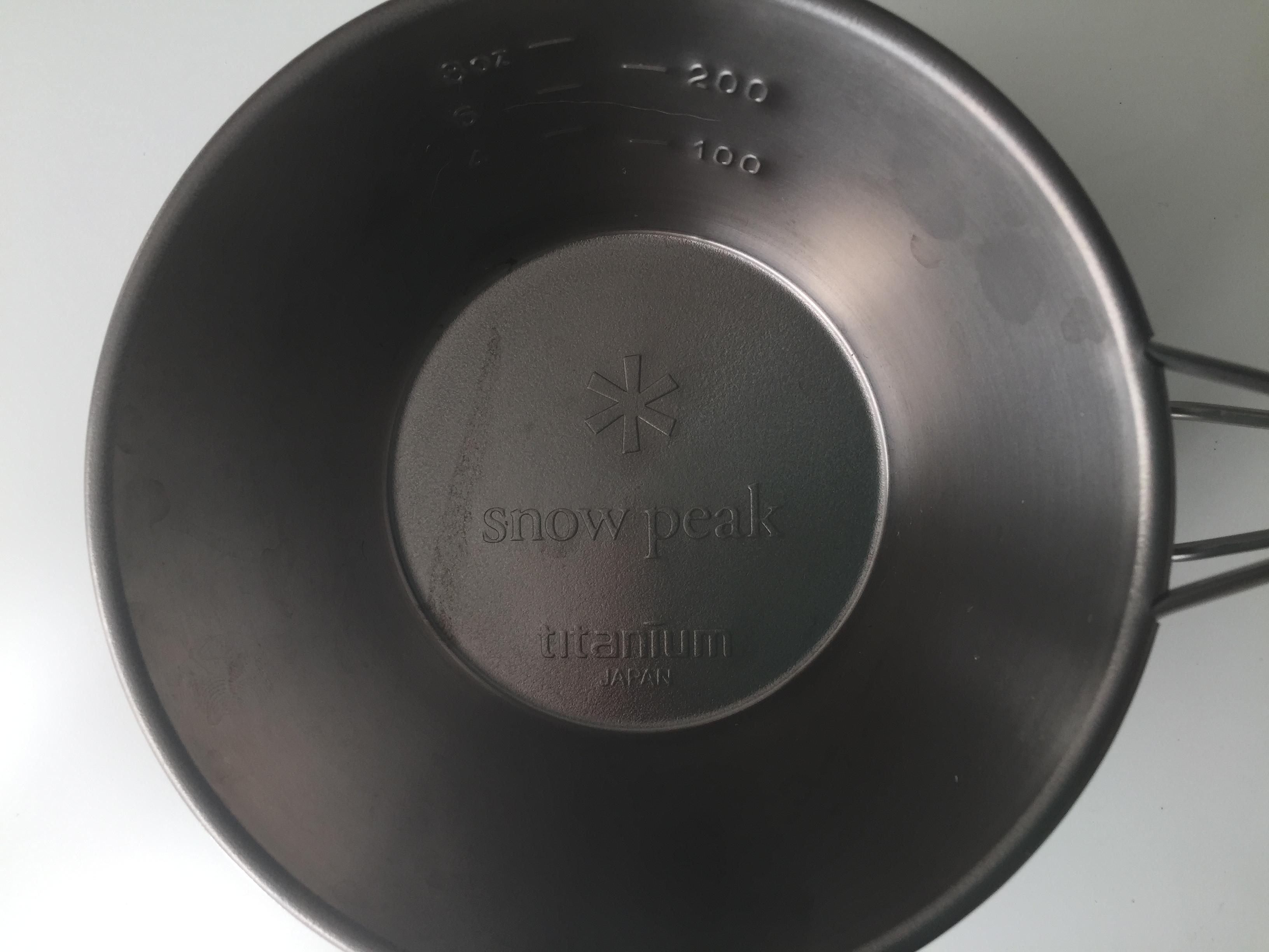 シェラカップ スノーピーク チタン製