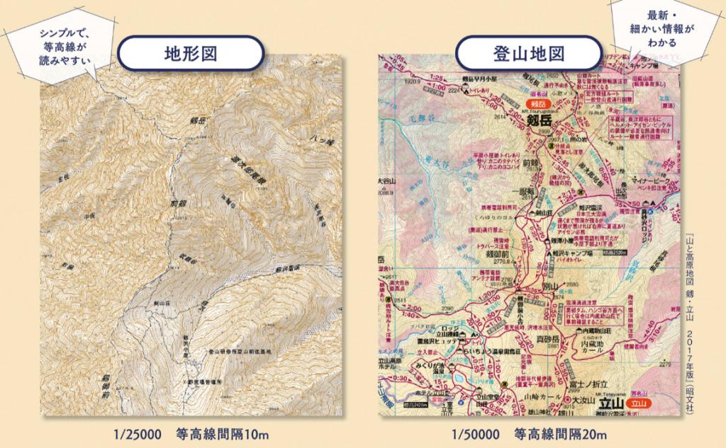 登山地図 地形図
