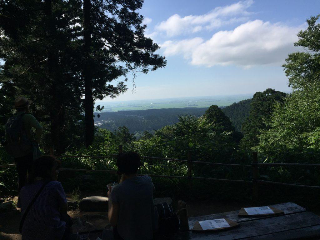 羽黒山 二の坂茶屋 眺望