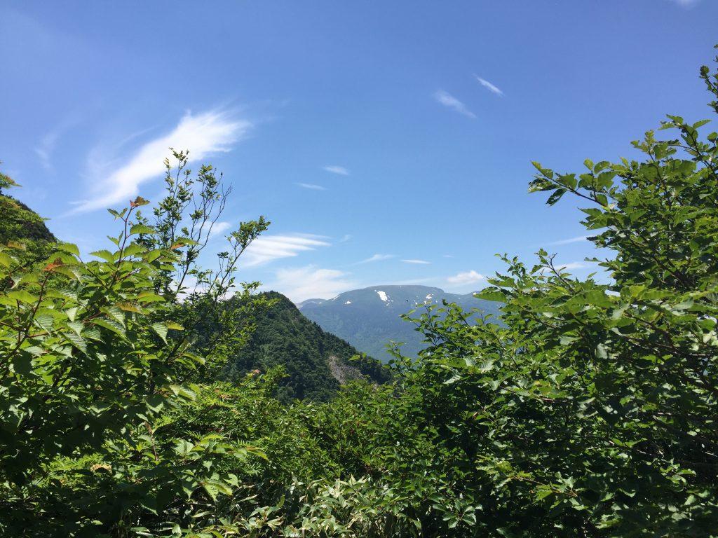 雁戸山 山形百名山 稜線
