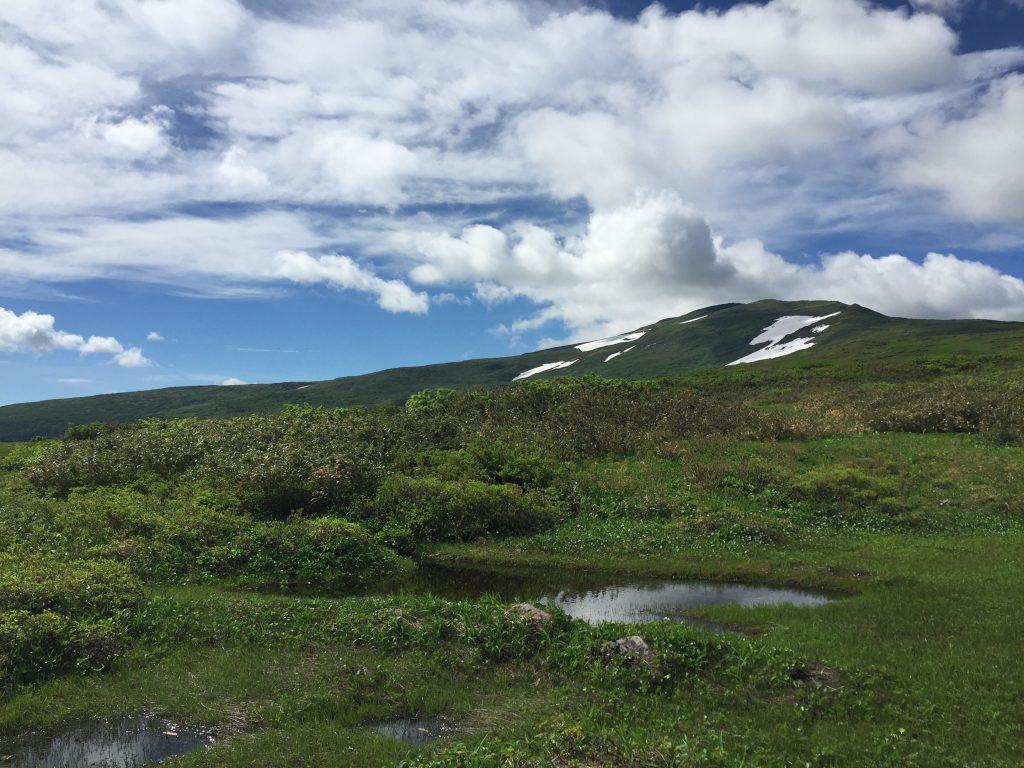 月山 日本百名山 山形百名山 池塘