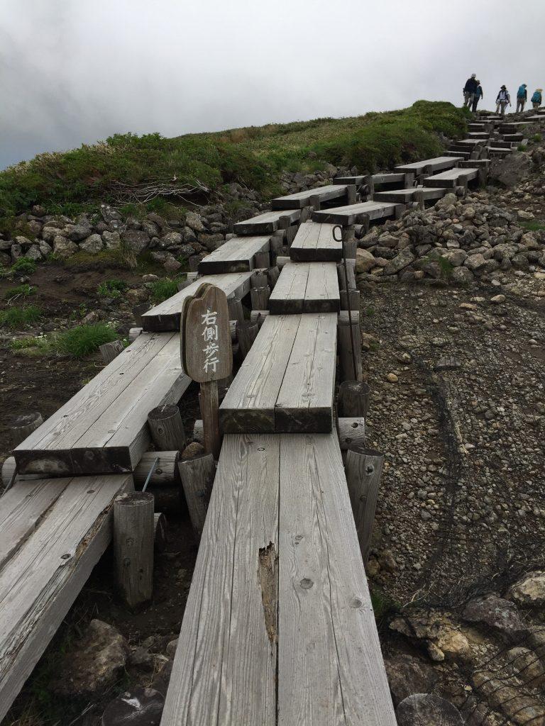 月山 日本百名山 山形百名山 登山道 木道