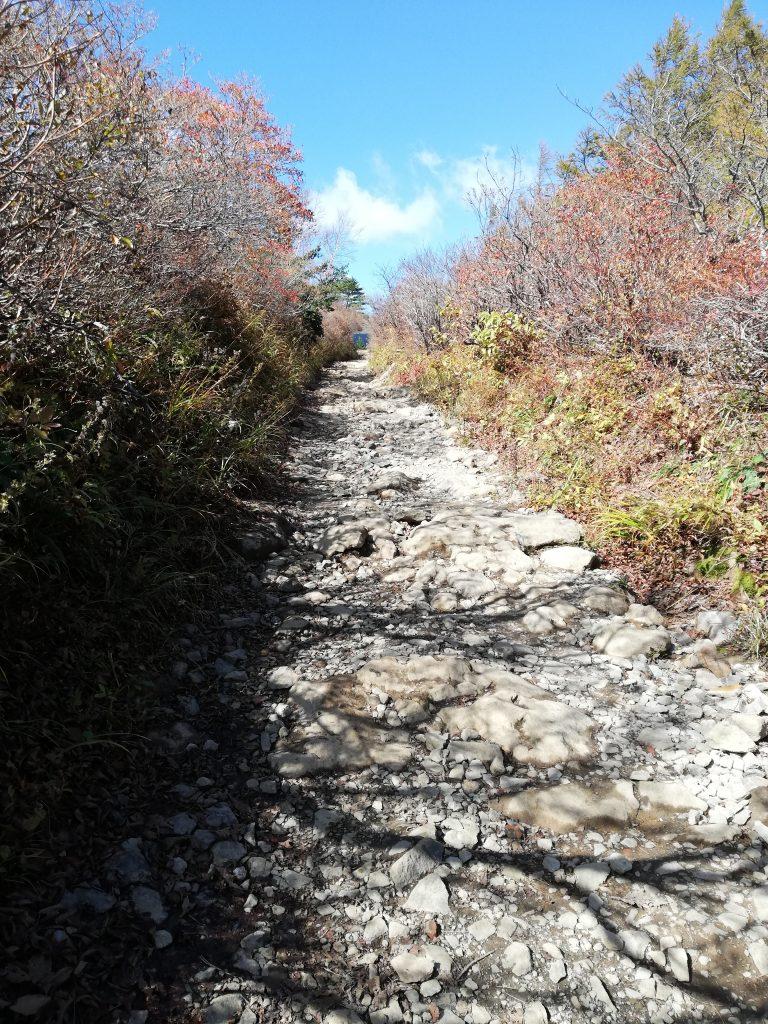 安達太良山 登山道 勢至平