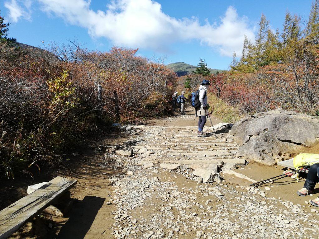 安達太良山 登山道 勢至平分岐