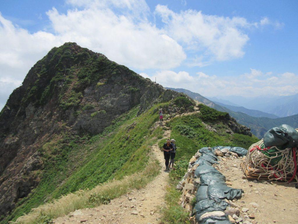 五竜岳 日本百名山 稜線 尾根