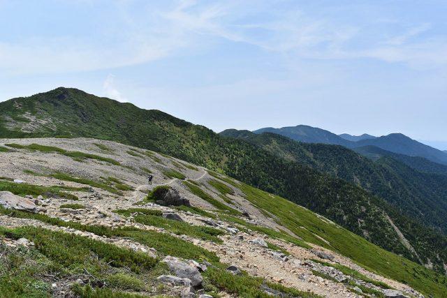 光岳 日本百名山 稜線 尾根