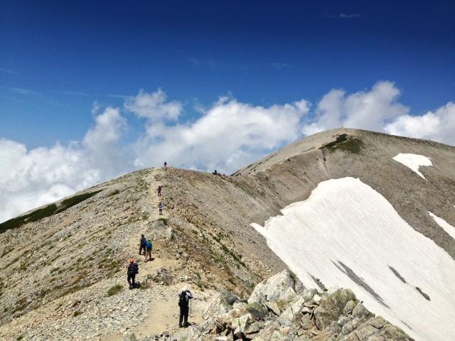 立山 稜線 日本百名山 尾根