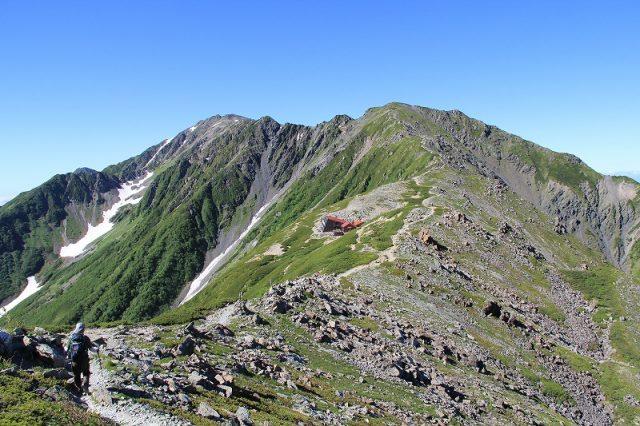 北岳 日本百名山 稜線 尾根