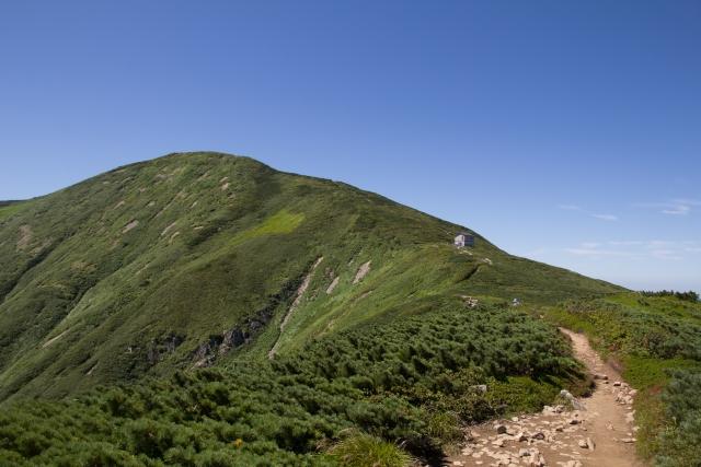 朝日岳 日本百名山 稜線 尾根