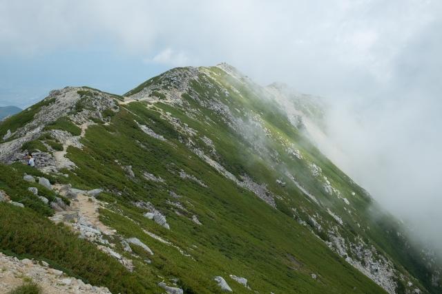 木曽駒ヶ岳 日本百名山 稜線 尾根