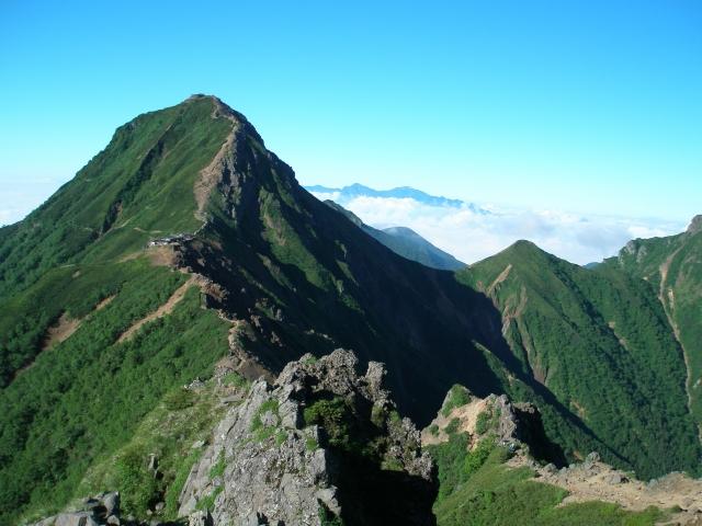 八ヶ岳 稜線 日本百名山 尾根