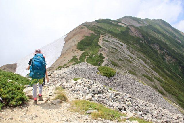 白馬岳 日本百名山 稜線 尾根
