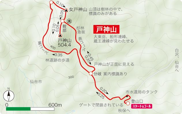 戸神山 登山コース